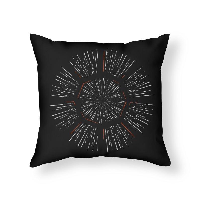 Light Speed Home Throw Pillow by gintron's Artist Shop