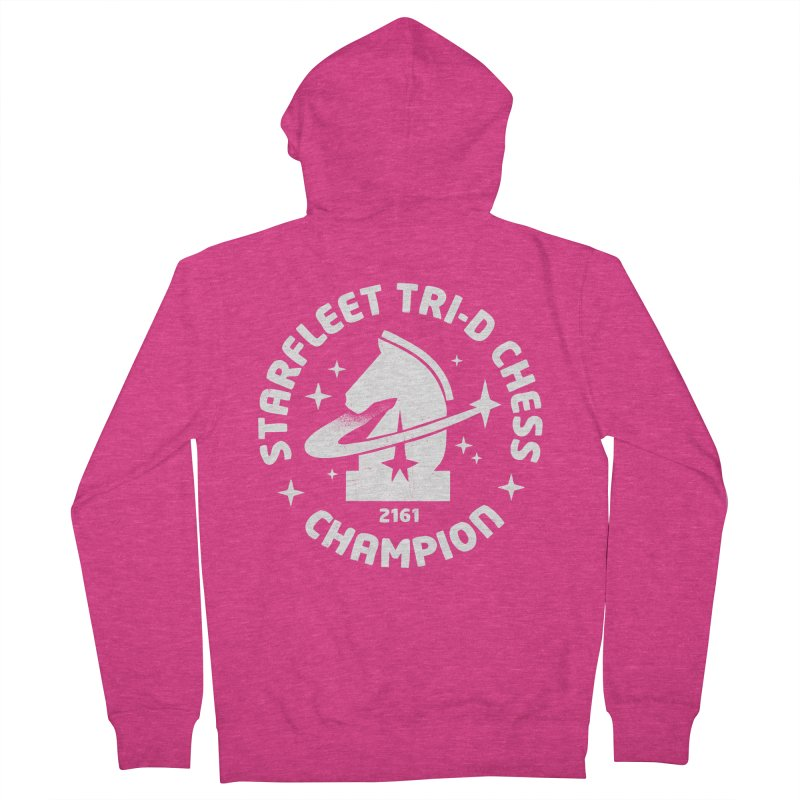 Tri-D Chess Champion Women's French Terry Zip-Up Hoody by gintron's Artist Shop