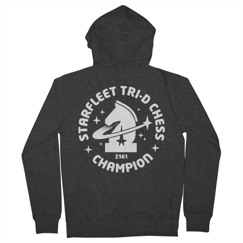 Tri-D Chess Champion Men's French Terry Zip-Up Hoody by Gintron
