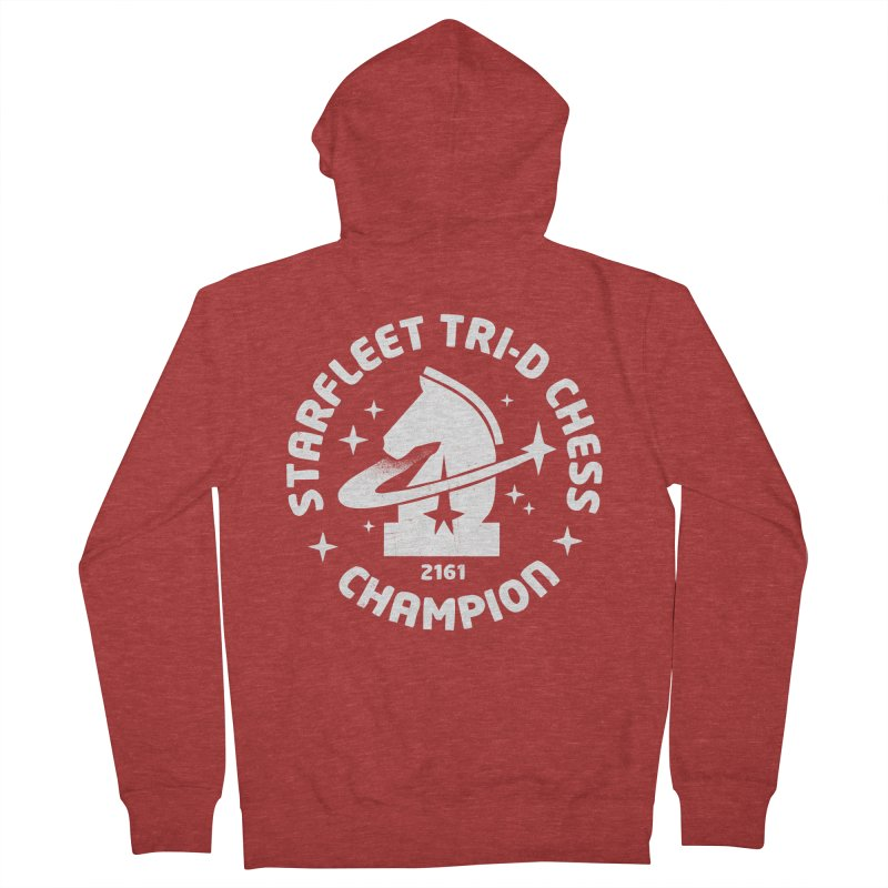Tri-D Chess Champion Men's French Terry Zip-Up Hoody by gintron's Artist Shop