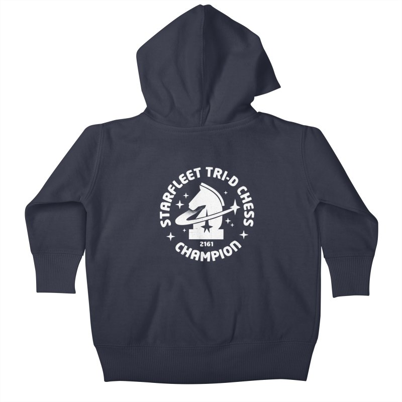 Tri-D Chess Champion Kids Baby Zip-Up Hoody by gintron's Artist Shop