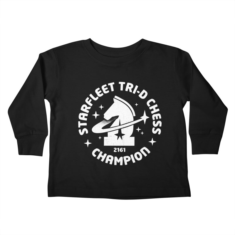 Tri-D Chess Champion Kids Toddler Longsleeve T-Shirt by gintron's Artist Shop