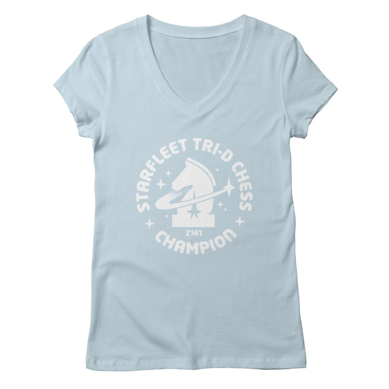Tri-D Chess Champion Women's Regular V-Neck by gintron's Artist Shop