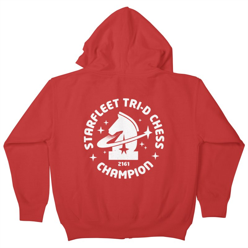 Tri-D Chess Champion Kids Zip-Up Hoody by gintron's Artist Shop