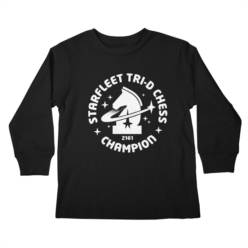 Tri-D Chess Champion Kids Longsleeve T-Shirt by gintron's Artist Shop