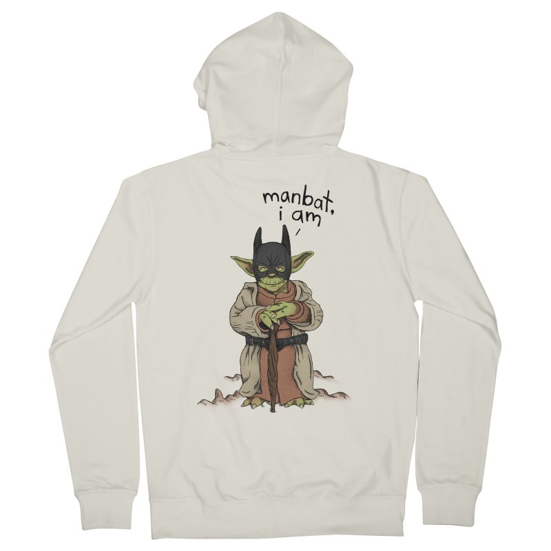 Manbat, I am. Men's French Terry Zip-Up Hoody by Gintron