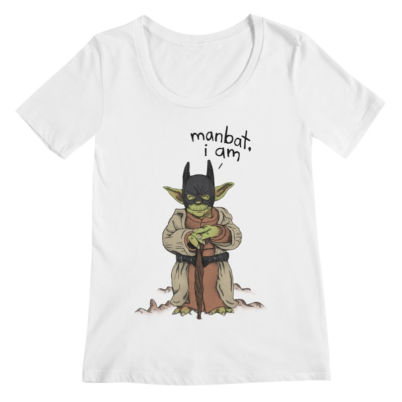 Manbat, I am. Women's Regular Scoop Neck by Gintron
