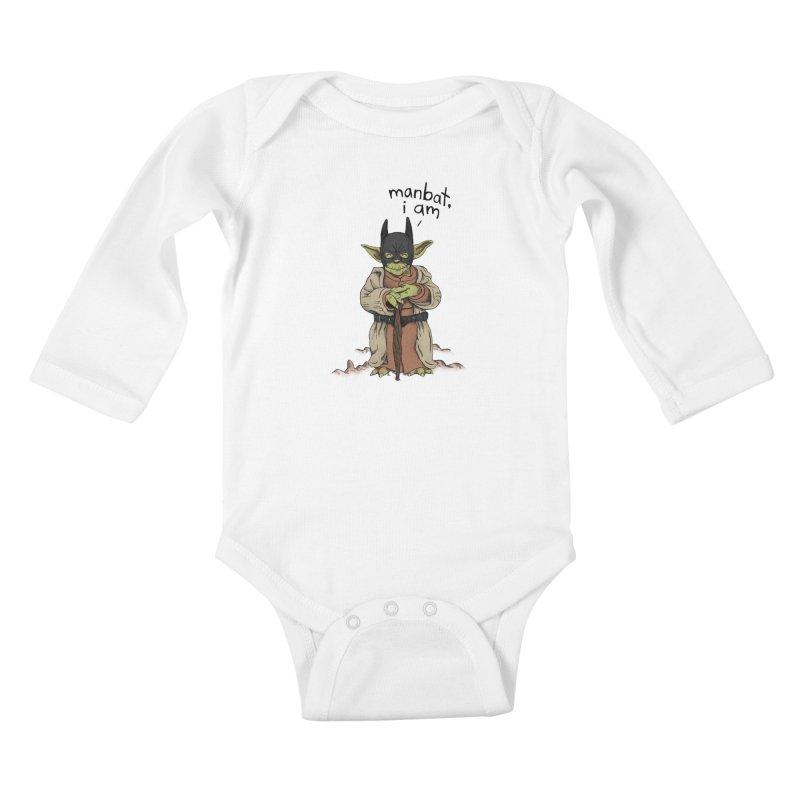 Manbat, I am. Kids Baby Longsleeve Bodysuit by Gintron