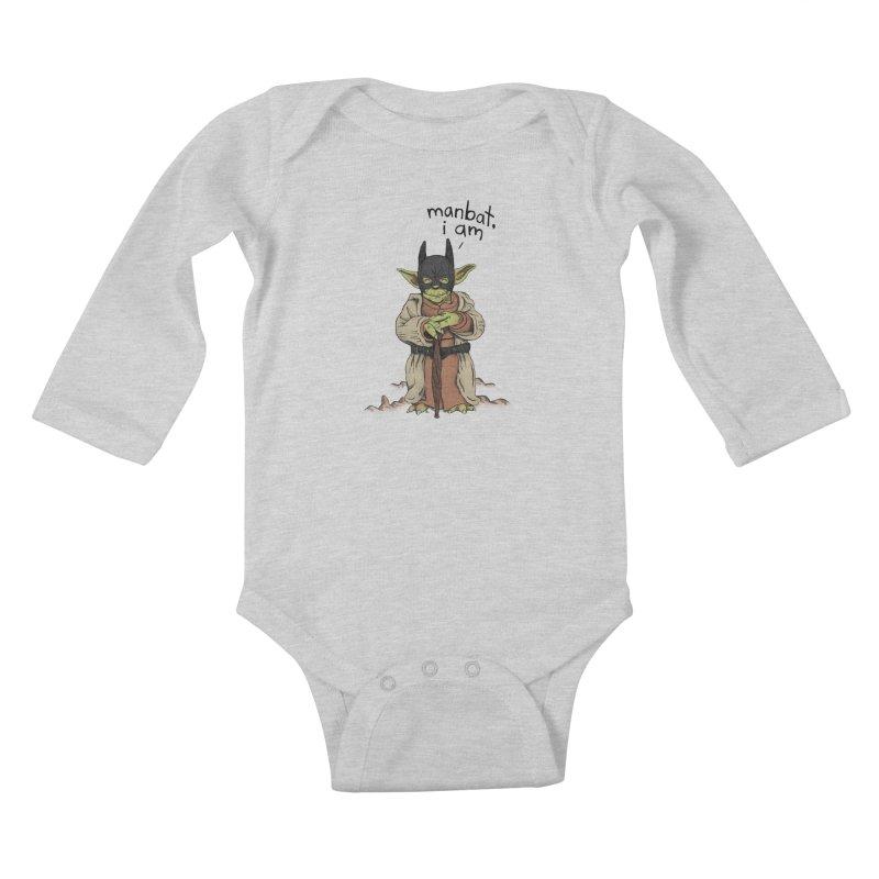 Manbat, I am. Kids Baby Longsleeve Bodysuit by gintron's Artist Shop
