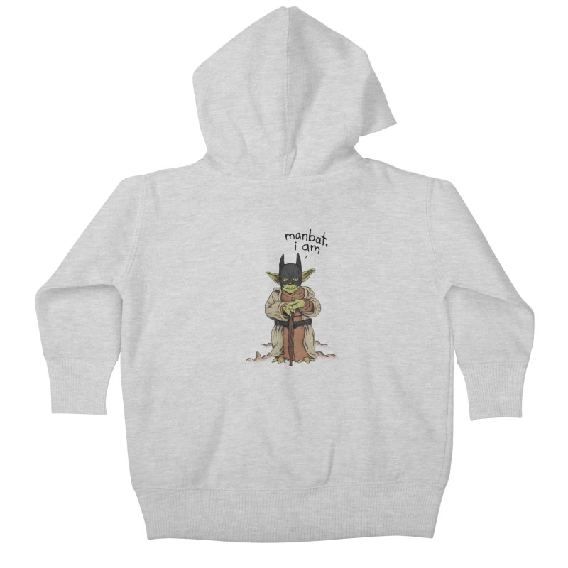 Manbat, I am. Kids Baby Zip-Up Hoody by gintron's Artist Shop