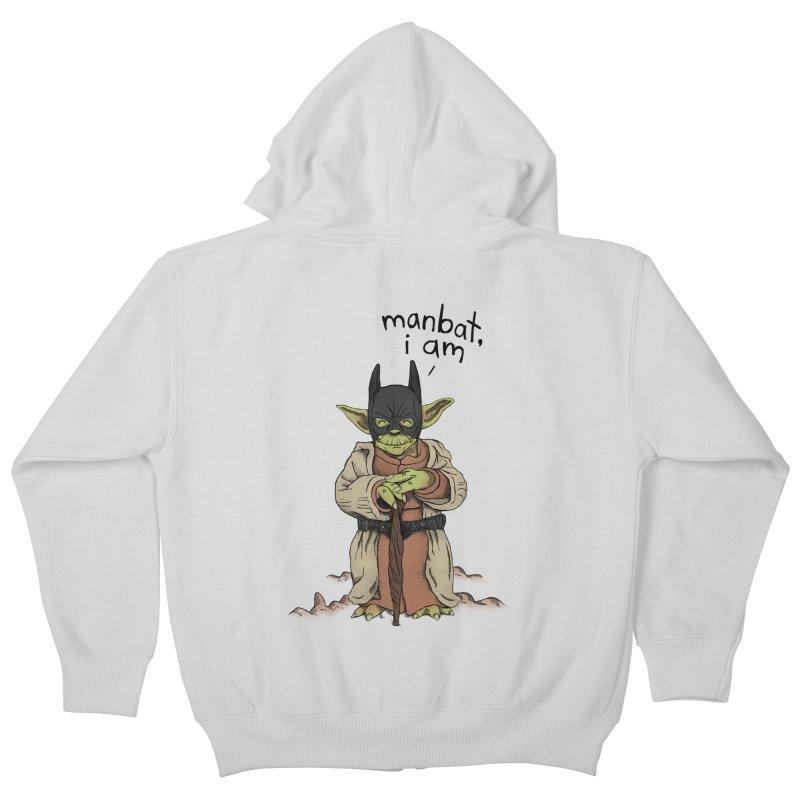 Manbat, I am. Kids Zip-Up Hoody by gintron's Artist Shop