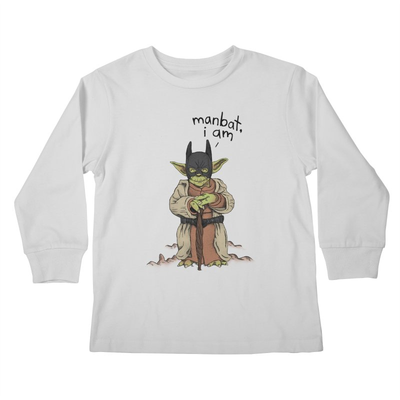 Manbat, I am. Kids Longsleeve T-Shirt by Gintron
