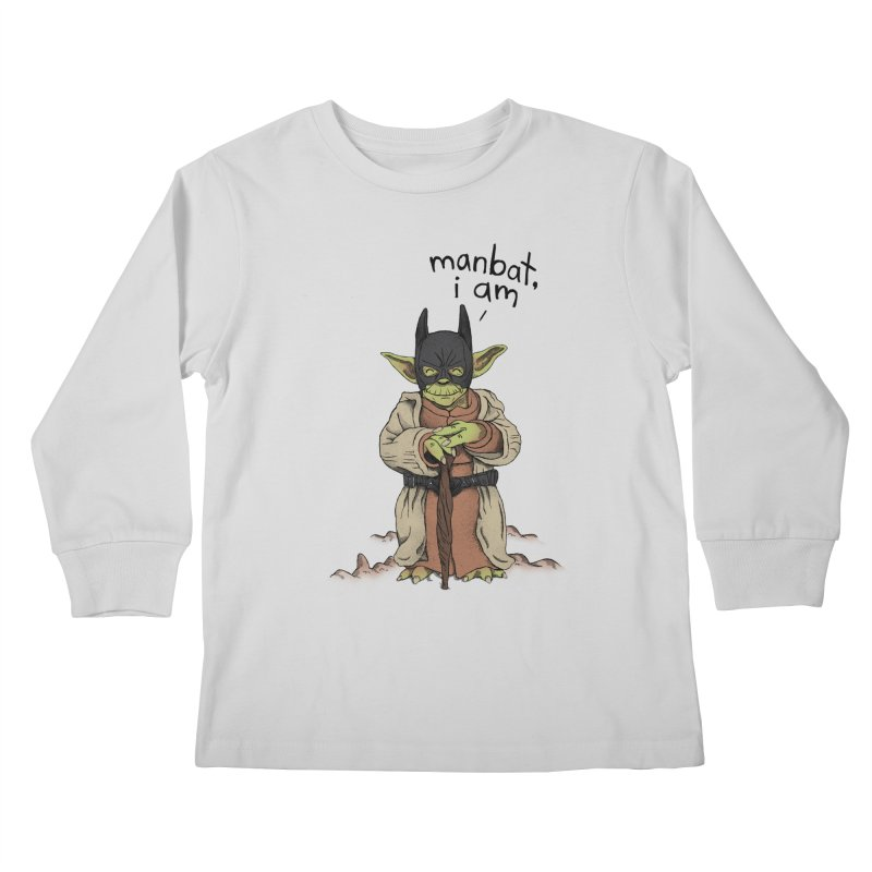 Manbat, I am. Kids Longsleeve T-Shirt by Gintron