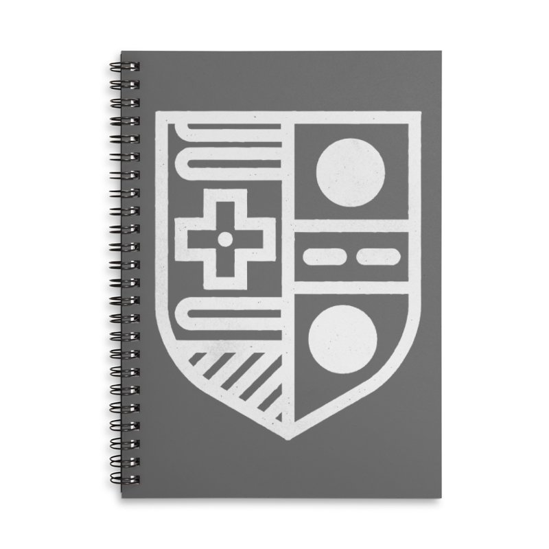 Retro Royalty Accessories Lined Spiral Notebook by Gintron