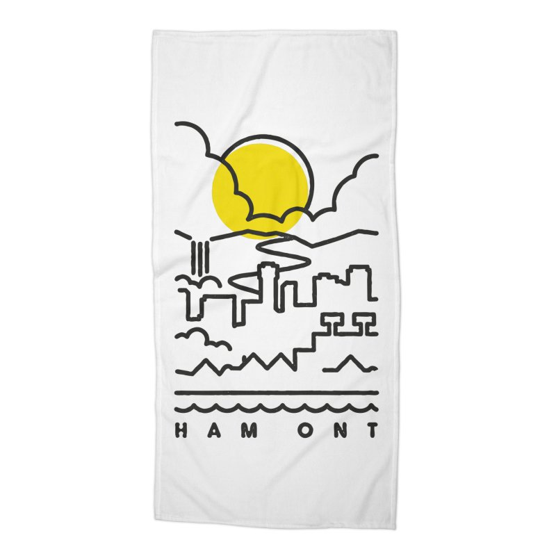 HAM ONT Accessories Beach Towel by gintron's Artist Shop
