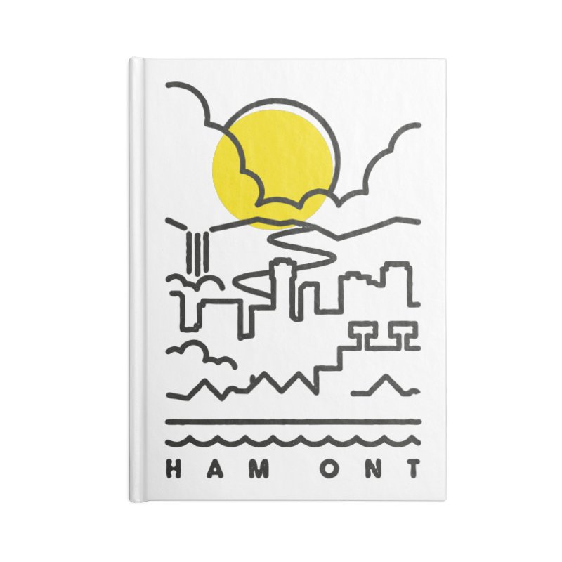 HAM ONT Accessories Lined Journal Notebook by Gintron