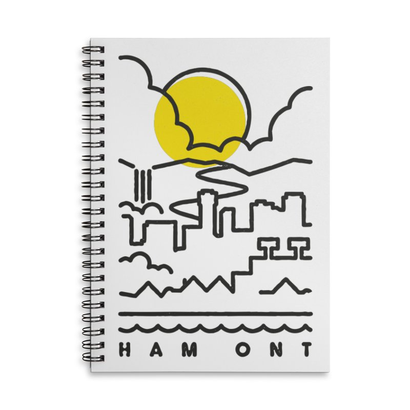 HAM ONT Accessories Lined Spiral Notebook by Gintron
