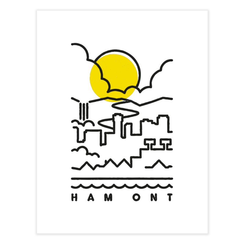 HAM ONT Home Fine Art Print by Gintron