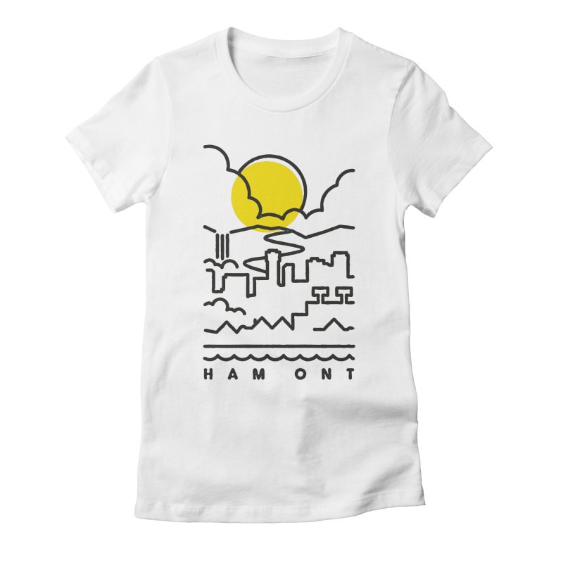 HAM ONT Women's Fitted T-Shirt by gintron's Artist Shop