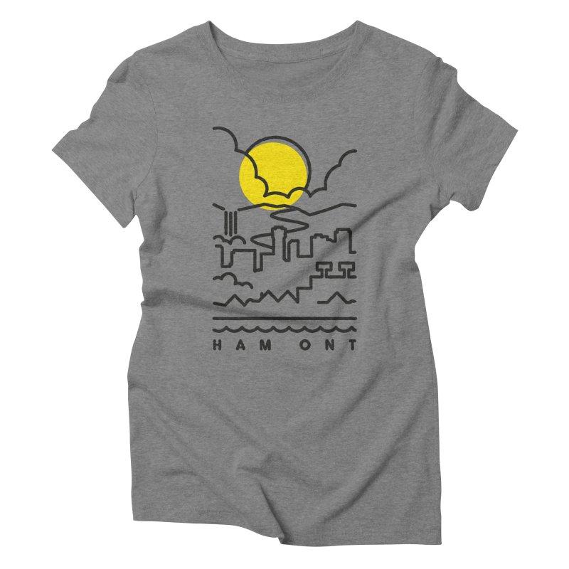 HAM ONT Women's Triblend T-Shirt by gintron's Artist Shop