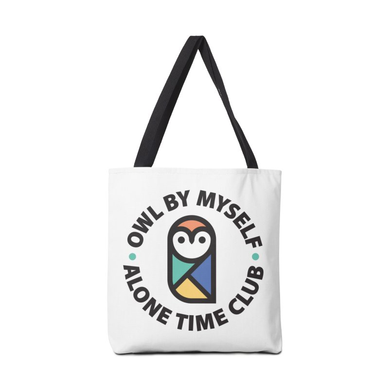 Owl By Myself - Alone Time Club Accessories Tote Bag Bag by Gintron
