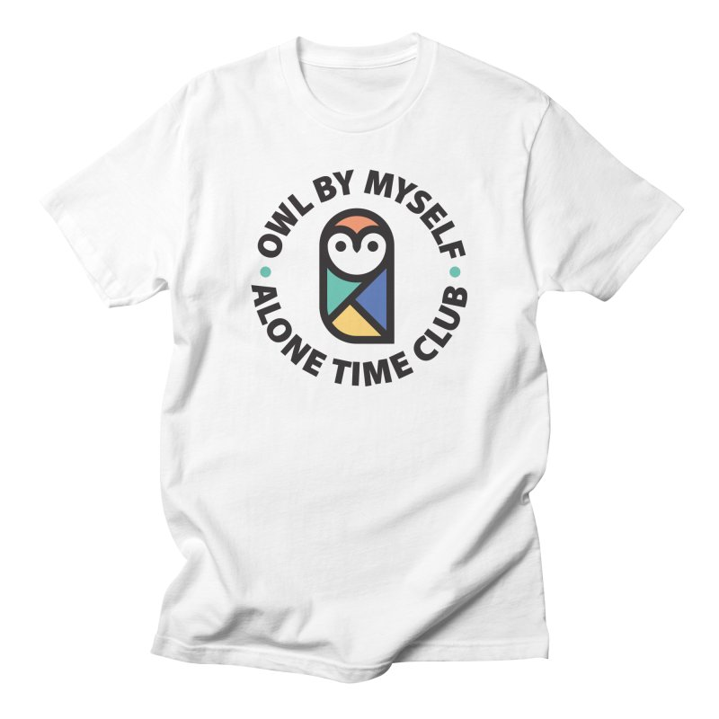 Owl By Myself - Alone Time Club Men's Regular T-Shirt by gintron's Artist Shop