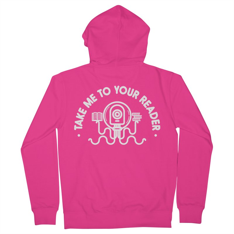 Take Me To Your Reader Men's French Terry Zip-Up Hoody by gintron's Artist Shop
