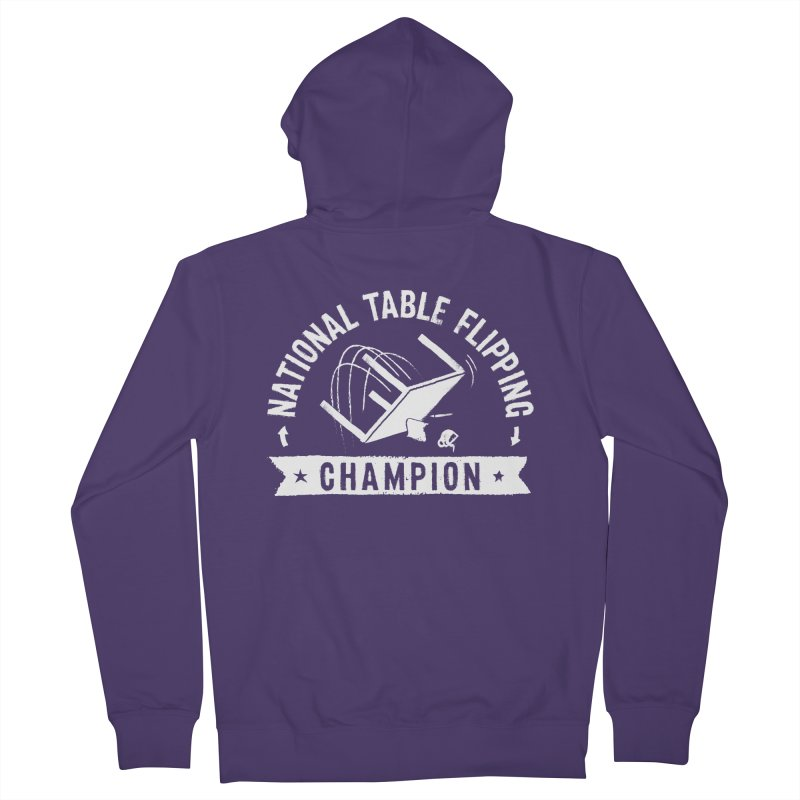 National Table Flipping Champion Women's French Terry Zip-Up Hoody by Gintron