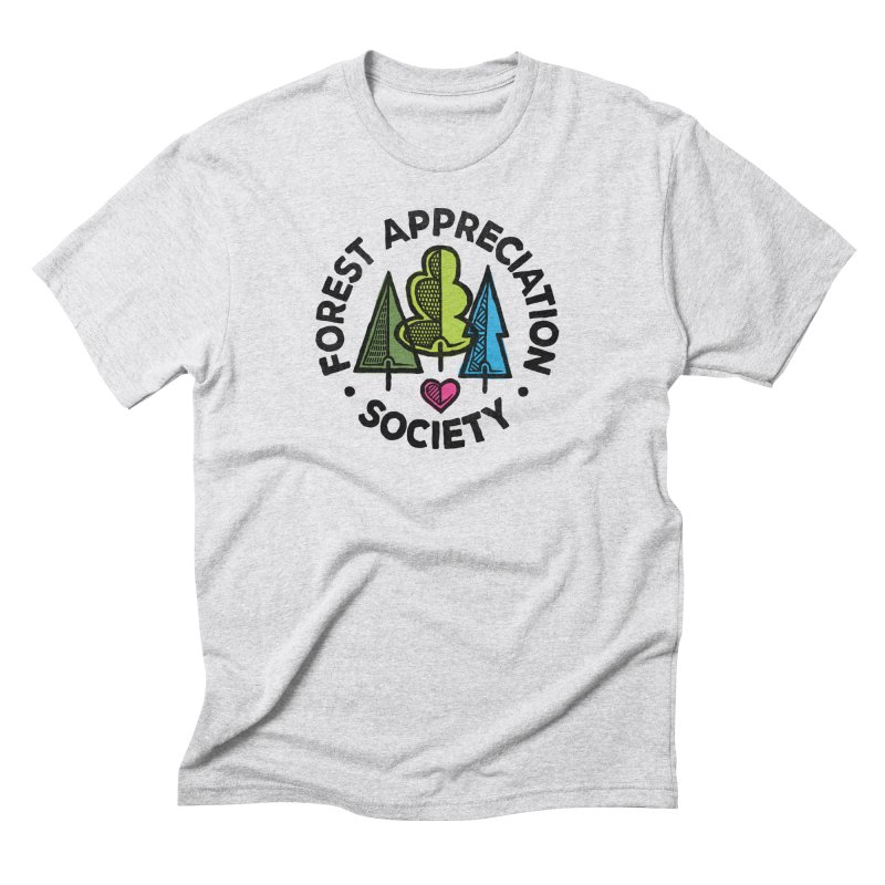 Forest Appreciation Society in Men's Triblend T-Shirt Heather White by gintron's Artist Shop