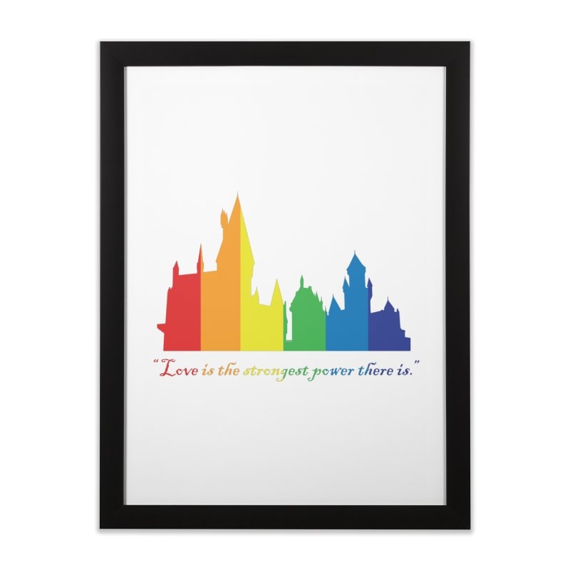 The power of love is magic Home Framed Fine Art Print by GipsonWands Artist Shop