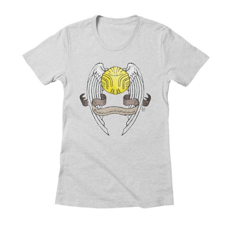 Dumbledore's man Women's Fitted T-Shirt by GipsonWands Artist Shop