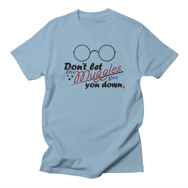 Ron's Response in Men's T-shirt Light Blue by GipsonWands Artist Shop