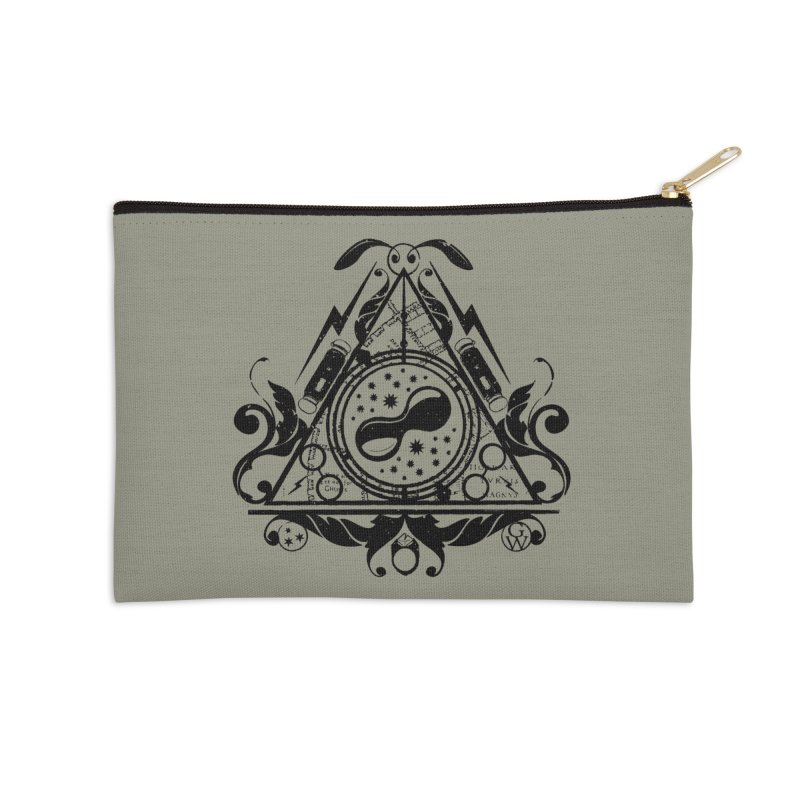 Harry's hallows Accessories Zip Pouch by GipsonWands Artist Shop