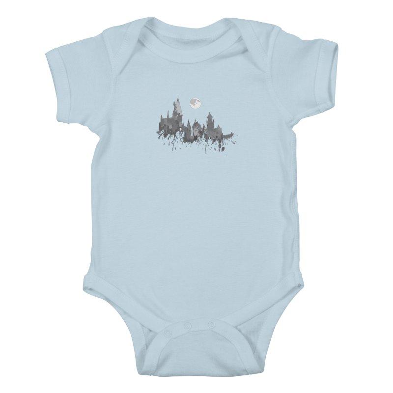 Hogwarts splatter Kids Baby Bodysuit by GipsonWands Artist Shop