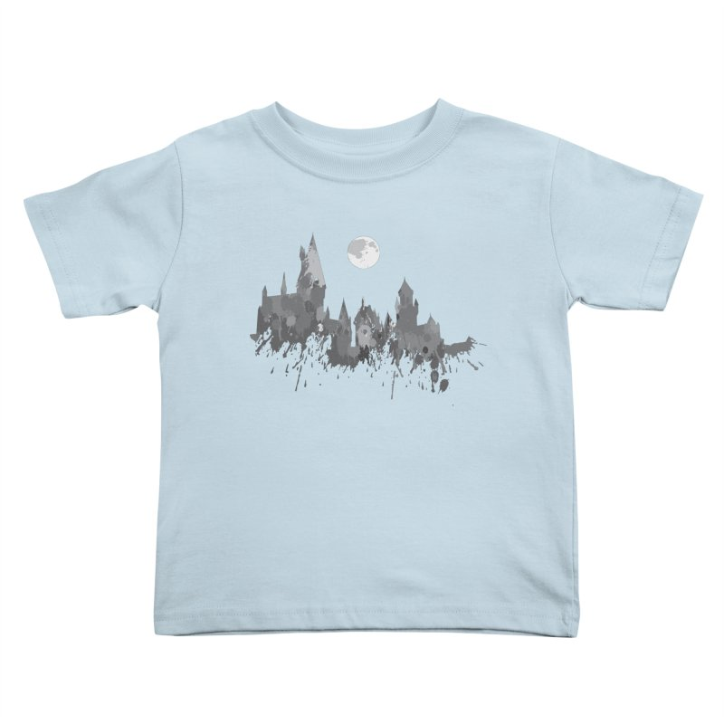Hogwarts splatter Kids Toddler T-Shirt by GipsonWands Artist Shop