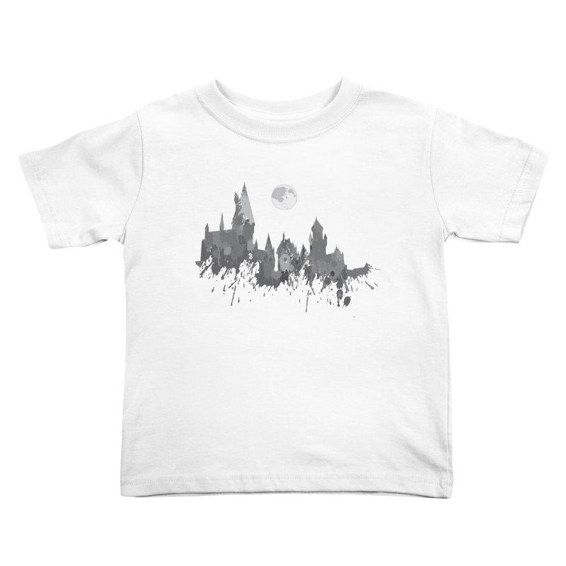 Hogwarts splatter Kids Toddler T-Shirt by GipsonWands Artist Shop