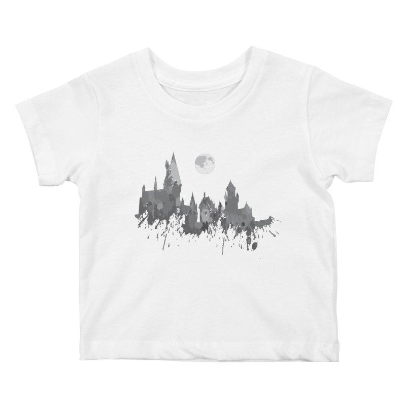Hogwarts splatter Kids Baby T-Shirt by GipsonWands Artist Shop