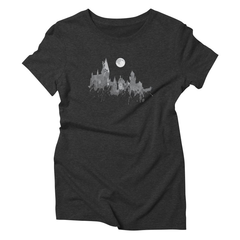 Hogwarts splatter Women's Triblend T-shirt by GipsonWands Artist Shop
