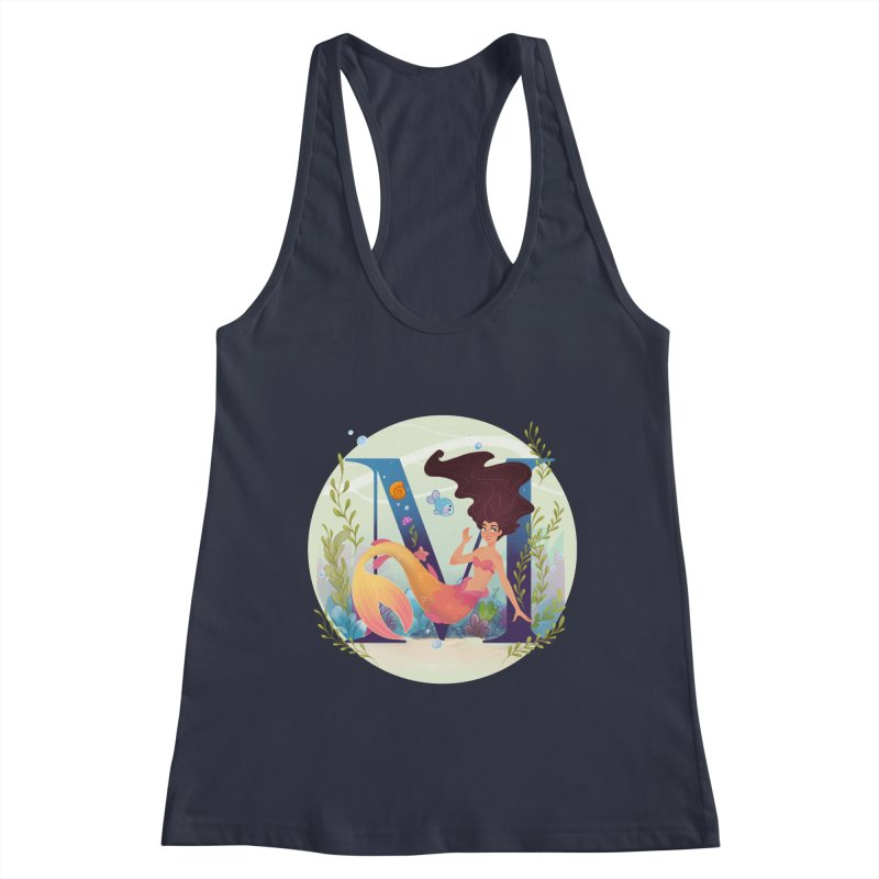 M is for Mermaid Women's Tank by Dianna Cheng's Artist Shop