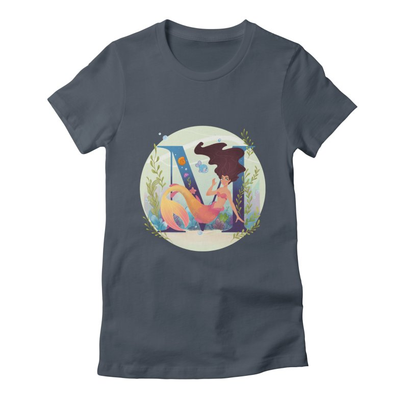 M is for Mermaid Women's T-Shirt by Dianna Cheng's Artist Shop