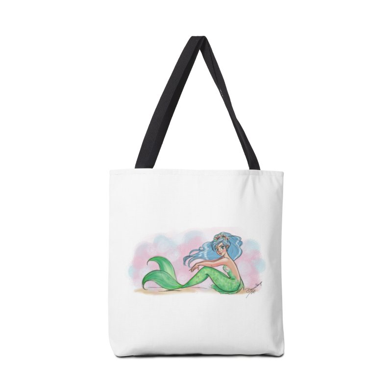 Mischievous Mermaid Accessories Tote Bag Bag by girlgeek's Artist Shop