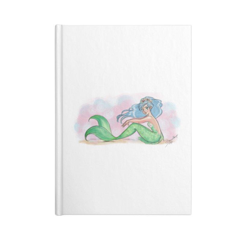 Mischievous Mermaid Accessories Lined Journal Notebook by girlgeek's Artist Shop