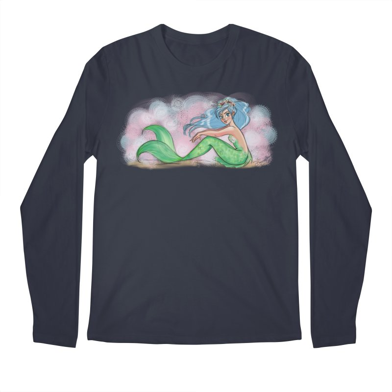 Mischievous Mermaid Men's Longsleeve T-Shirt by girlgeek's Artist Shop