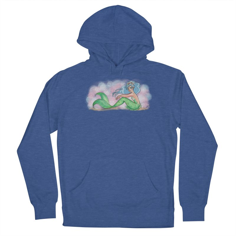 Mischievous Mermaid Men's French Terry Pullover Hoody by girlgeek's Artist Shop