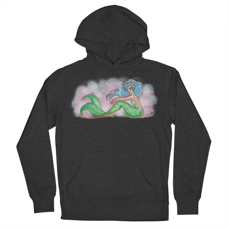 Mischievous Mermaid Women's French Terry Pullover Hoody by girlgeek's Artist Shop