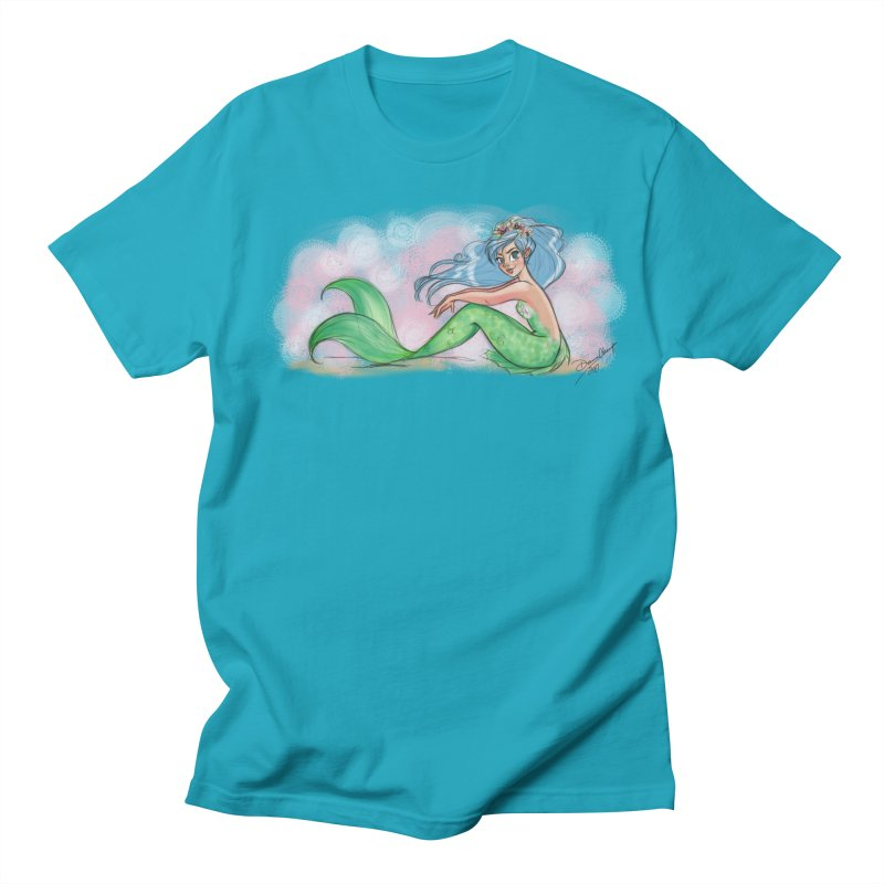 Mischievous Mermaid Men's T-Shirt by girlgeek's Artist Shop