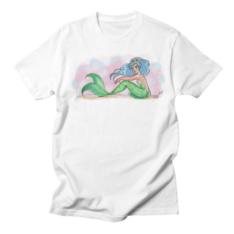 Mischievous Mermaid Men's Regular T-Shirt by girlgeek's Artist Shop