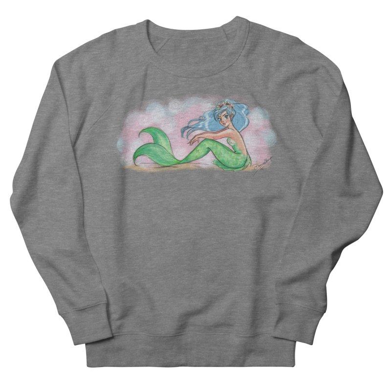 Mischievous Mermaid Men's French Terry Sweatshirt by girlgeek's Artist Shop