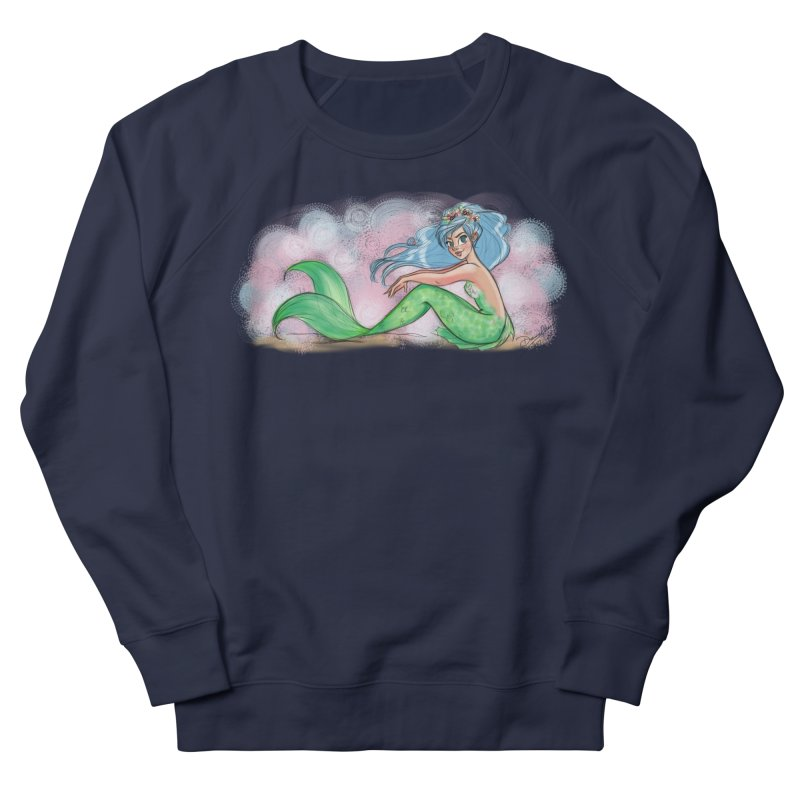 Mischievous Mermaid Men's French Terry Sweatshirt by girlgeek's Artist Shop