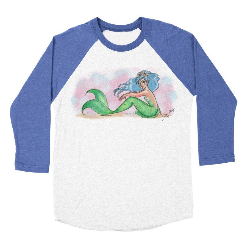 Mischievous Mermaid Women's Baseball Triblend Longsleeve T-Shirt by girlgeek's Artist Shop